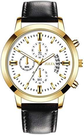 LUXISDE Men's Watches Wrist Watch Luxury Watches Quartz Watch Stainless Steel Dial Casual Bracele Watch 42