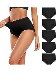 Molasus Women's High Waist Cotton Post Partum Briefs Underwear C Section Panties Soft Breathable Full Coverage Underpants