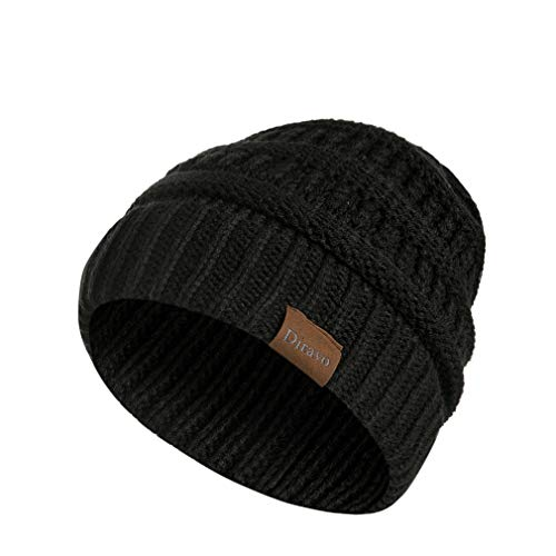 Warm Cable Knit Beanie Soft Winter Stretch Chunky Beanie Hats for Women and Men