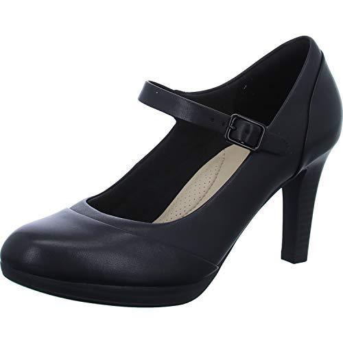 D Carla Clarks Black 0 8 Womens Leather Adriel Shoe 1wqa8P