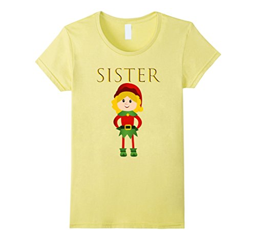 Womens CUTE: SISTER ELF Shirt Stocking Stuffer Outfit Gift Idea XL (Elf Outfit Ideas)