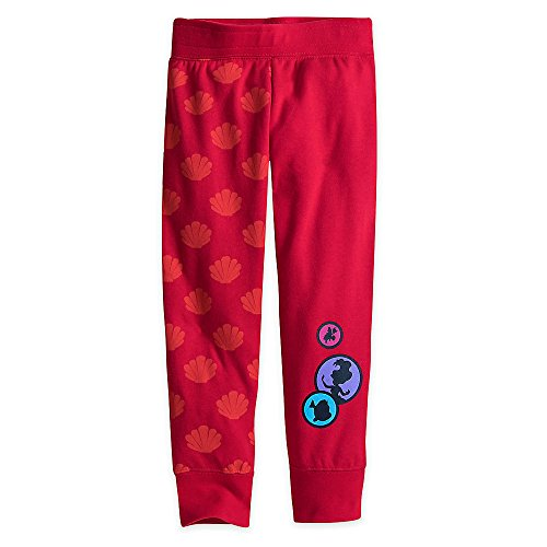 Disney Ariel Fleece Pants for Kids Size 5/6 Red