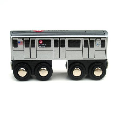 Munipals Wooden Railway NYC Subway Car 3 ()