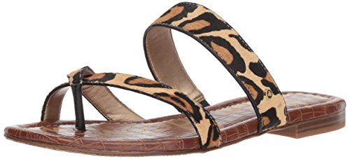 Sam Edelman Womens Bernice Slide Sandal New Leopard Nude