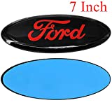 Automotive : Cardiytools Front Tailgate Emblem,3D Oval 7 Inch Adhesive Black Decal Badge Nameplate for Ford Escape Excursion Expedition Freestyle F-150 F-250 F350 (Red)