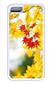 iPhone 5c case, Cute Maple Leaf 3 iPhone 5c Cover, iPhone 5c Cases, Soft Whtie iPhone 5c Covers