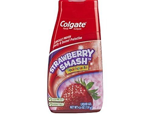 Colgate Fluoride Toothpaste Strawberry Smash Liquid Gel, 4.60 (Flavored Strawberry Toothpaste)