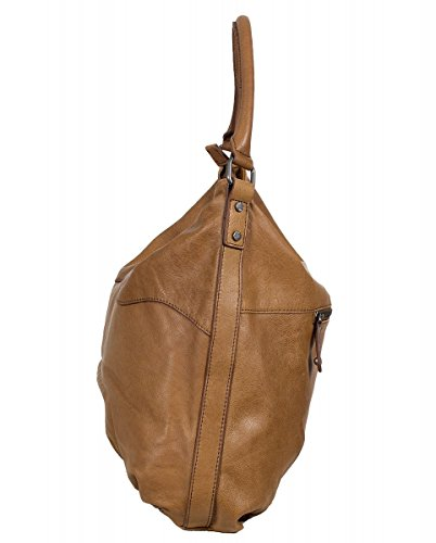 FREDsBRUDER Big Wave Bolso de mano piel 38 cm Dark Camel (Braun)