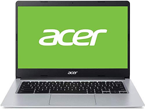 Acer Chromebook 314 – Portátil 14″ FullHD (Intel Celeron N4020, 4GB RAM, 64GB eMMc, Intel UHD Graphics, Chrome OS), Color Plata – Teclado QWERTY Español