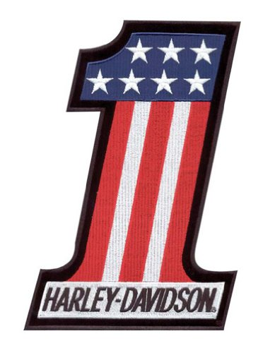 (Harley-Davidson #1 Red, White & Blue Small Patch)