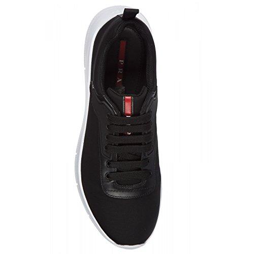 Scarpe Sneaker Lace Prada up Nero Nylon Uomo Bianco Tech da 4e3148 xUfdST