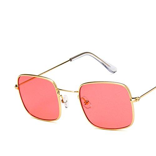Transparent Lentille Pink Lens Océan Cadre Gold Carré Frame De Soleil Lunettes And Verre Petit Rétro 6c8wBY1Sq