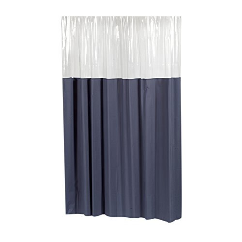 Park Avenue Deluxe Collection 'Window' Vinyl Shower Curtain in Slate
