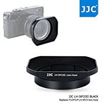 JJC Bayonet Black Square Metal Lens Hood Shade for Fujifilm Fujinon XF 23mm F1.4 R Lens on X-Pro2 X-Pro1 X-T2 X-T1 X-T20 X-T10 X-E2S replaces Fuji Hood LH-XF23, fits Fuji FLCP-62 62mm Snap On Lens Cap