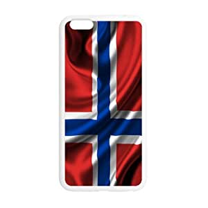Special 5.5inches Norway Flag Pattern iPhone 6 Plus TPU(Laser Technology) Durable Back Case Shell - For iPhone 6 Plus