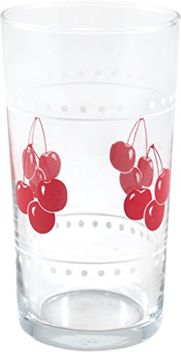 Anchor Hocking Cherry Bunches Juice Glasses, Set of 12