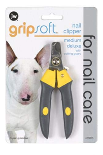 JW Pet Company Gripsoft Deluxe Nail Clipper for Dogs, Medium