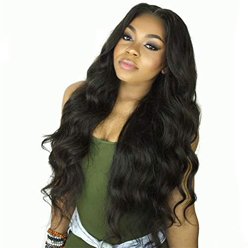 Body Wave Lace Front Human Hair Wigs For Women Pre Plucked Hairline With Baby Hair 8-26Inch Remy Hair Bleached Knots Natural Color 12inches ()