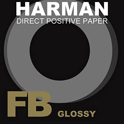 Harman 1171170 - Papel Directo Positivo 1K 8 x 10, Brillo, 25 Hojas, Color Negro Harman Technology