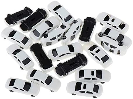 sharprepublic モデルカー 車 駐車場風景 電車模型 情景コレクション 建築鉄道 HOスケール 部品模型 20個 全2サイズ - 1:200