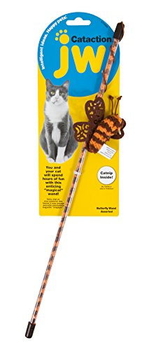 JW Pet Butterfly Wand Cataction Toy Wand Pet Toy