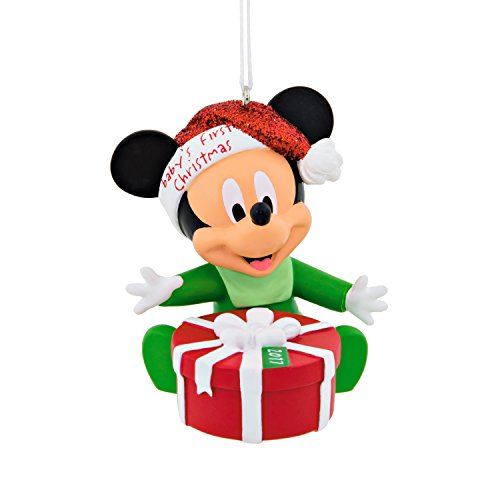 Hallmark Disney Mickey Mouse 2017 Baby's 1st Christmas Ornament (Babys First Christmas Hallmark Ornament)