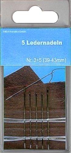 5er Set Ledernadeln 39-43mm in SB-Dose