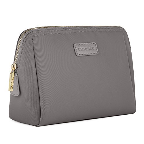 (CHICECO Large Makeup Bag Toiletry Bag for Women Skincare Cosmetic Pouch - Grey)