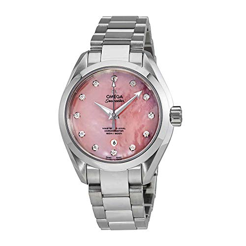 Omega Seamaster Aqua Terra Pink Mother of Pearl Dial Ladies Watch 231.10.34.20.57.003