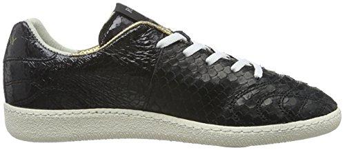 REPLAY Replica Scatto, Sneaker Basse Donna Nero (Schwarz (Black Black 562))
