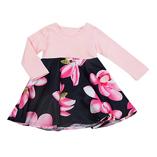 Price comparison product image PLENTOP 2019 Newborn Toddler Infant Baby Girls Long Sleeve Bodysuit with Letter Print Romper One Piece Jumpsuit for Girls Outfits (6M-24M)