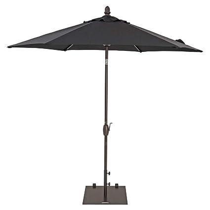 TrueShade Plus Patio Umbrella Garden Parasol Umbrella With Push Button Tilt  And Crank. Includes Storage