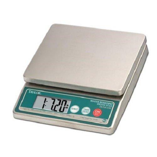 Taylor TE10CSW Stainless Steel 10 lb. Waterproof Digital Por