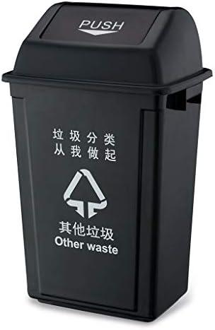 XINGZHE 大型ごみ箱 - スクールワークショップキッチン屋外プラスチッククラムシェルリサイクルごみ箱(20L、40L、60L) ごみ箱 (色 : B, サイズ さいず : 60 60)