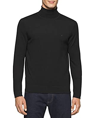 Calvin Klein Men's Merino Tubular Roll Neck Sweater