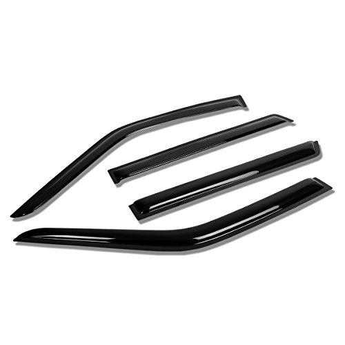 Nissan Pathfinder R50 / Infiniti QX4 4pcs Window Vent Visor Deflector Rain Guard (Dark Smoke) (Nissan Pathfinder Window Visors compare prices)