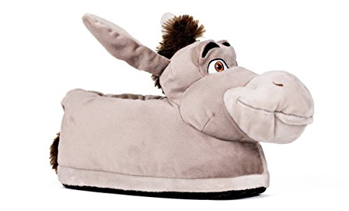 Happy Feet 2102-1 - DreamWorks Shrek - Donkey Slippers - Small Mens and Womens Slippers ()