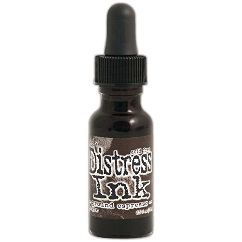 Espresso Ink - Ranger August Ground Espresso Tim Holtz Distress Ink Re-Inker, 0.5 oz