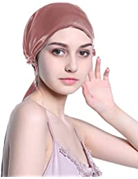 Silk Night Cap Satin Head Cover Bonnet Hair Care