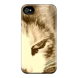 Cute Appearance Cover/tpu Cat A Case For Iphone 4/4s