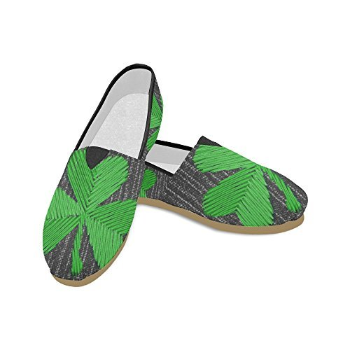 InterestPrint Fashion Painted Saint Patricks Day Slip-on Women's Casual Canvas Flat Shoes (004) -