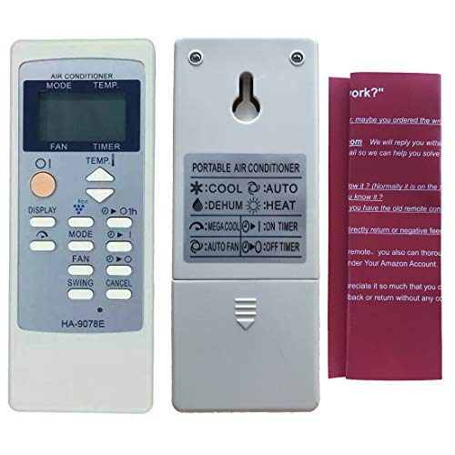Replacement for Sharp Air Conditioner Remote Control Model Number: CRMC-A805JBEZ CRMC-A705JBEZ Works for CV-P09LX CV-P10LC CV-P10MC CV-P10NC CVP10NC-D CVP10NC-R CV-P10PC CVP10PC-D CVP10PC-R CV-P10RC
