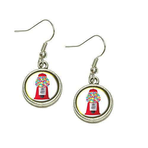Gumball Machine Candy Dangling Drop Charm Earrings