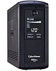 CyberPower CP850AVRLCD Intelligent LCD UPS System, 850VA/510W, 9 Outlets, AVR, Mini-Tower