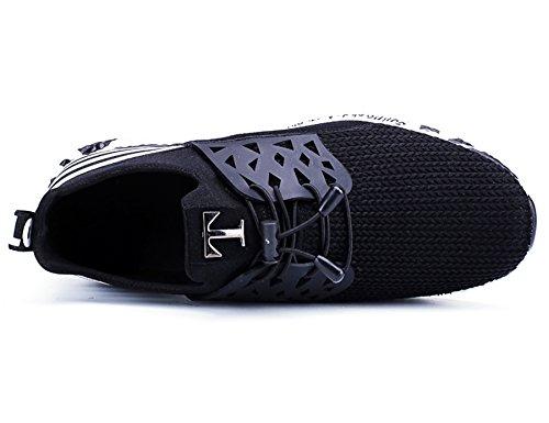 Deportivas IIIIS Hombre negro Running Hombre T A17 Gimnasio Zapatillas Hombre Zapatillas Cordones en Zapatillas de 0TF10