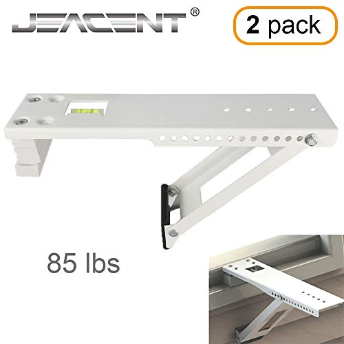 - Jeacent Universal AC Window Air Conditioner Support Bracket Heavy Duty, Up to 85 lbs, 2Packs