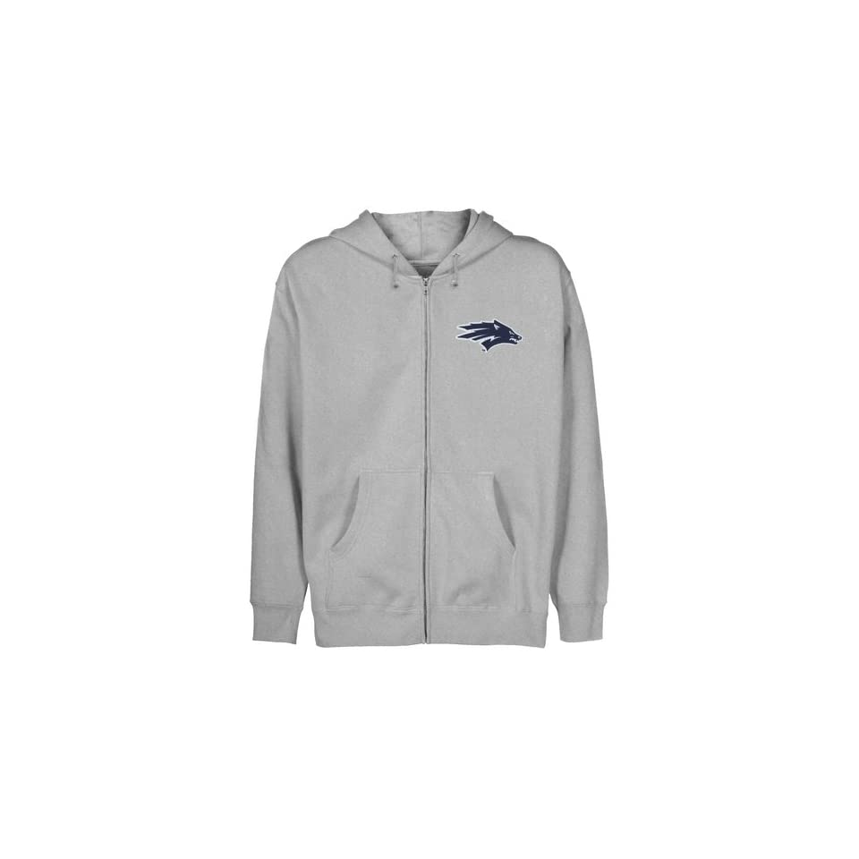 Nevada Wolf Pack Youth Ash Logo Applique Full Zip Hoody Sports