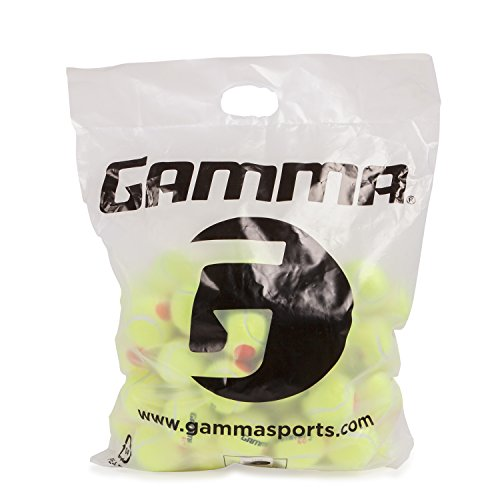 Gamma Sports Kids Training (Transition) Balls, Yellow/Orange Dot, 60 Orange Dot, - Ferrari 60