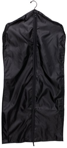 Household Essentials Nylon Polyester Garment Bag, Black, Bags Central