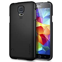 Galaxy S5 Case, Galaxy S5 Cases, Spigen Ultra Fit - Premium Finish Coating for Samsung Galaxy S5 (2014) - Smooth Black